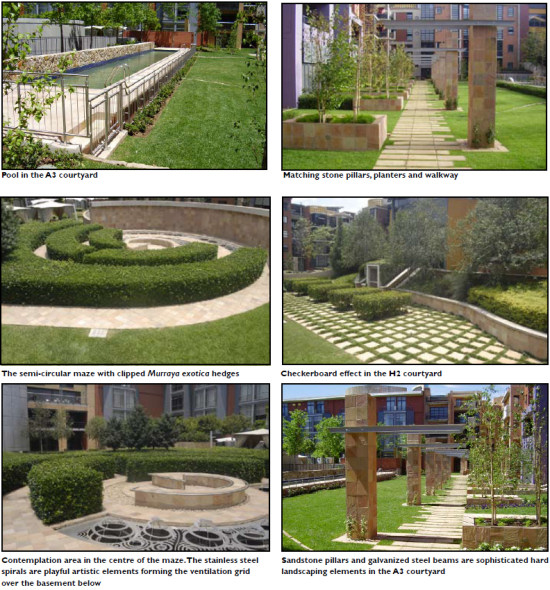 Landscape Design Outdoor Construction Residential: Melrose Arch Residential Courtyards